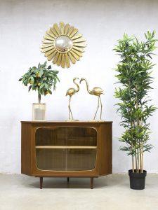 Vintage sixties Danish corner cabinet Deense hoekkast wandkast