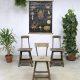 Industriële vintage kruk krukken, Industrial vintage stool barstool