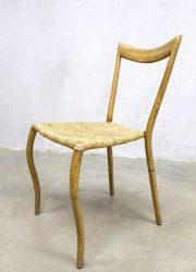 Vintage bamboo dinner chair bamboe eetkamerstoel