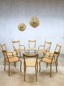 Vintage bamboo dinner chairs midcentury modern bamboe eetkamerstoel