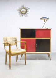 Vintage wandkast 'minimalism' cubism midcentury design cabinet dressoir