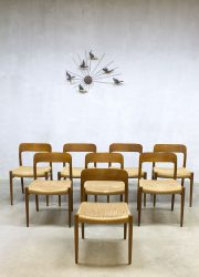 Model No.75 dining chairs eetkamer stoelen Niels O. Møller voor J.L. Møller