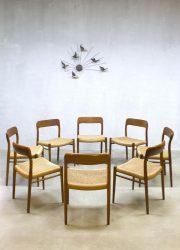 Model No.75 dining chairs dinner chair eetkamer stoelen Niels O. Møller voor J.L. Møller
