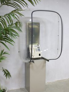 Vintage 70s phone booth space age telefooncel