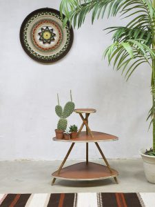 Vintage tripod plant stand sixties plantentafel 'Tipi style'