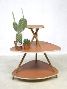 vintage plantentafel formica sixties plant stand