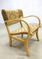 midcentury modern dutch design chair vintage rope chair Bas van Pelt V&D touw stoel