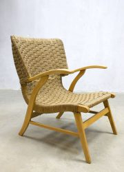 vintage touw stoel oorfauteuil fauteuil vintage wingback chair armchair