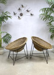 DDR korbsessel rattan vintage design German chair kuipstoel