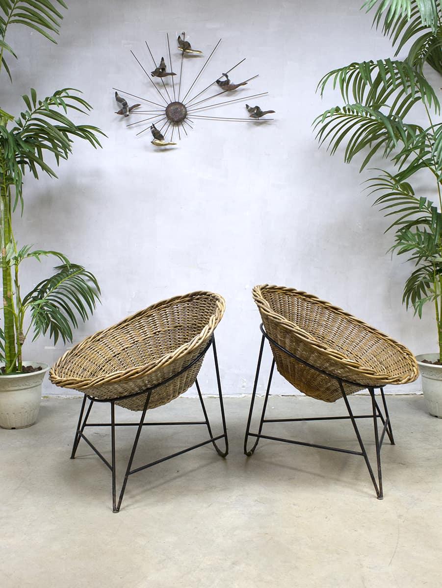 Vintage ddr korbsessel rattan basket chair rotan kuipstoel for Korbsessel design
