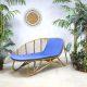 Vintage rotan sofa chaise longue rattan Rohe Noordwolde