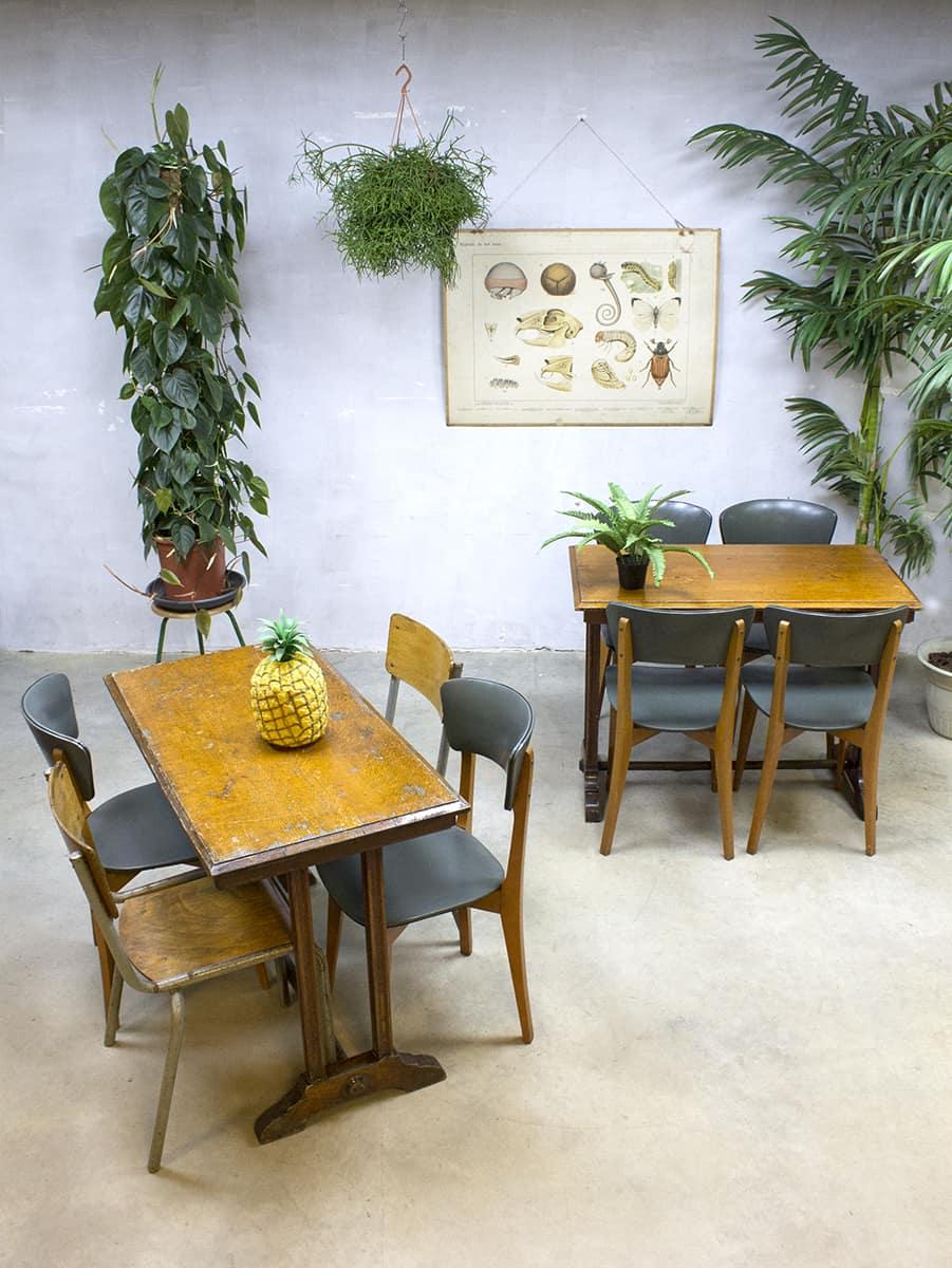 Gebruikte Eetkamer Tafel.Franse Vintage Cafe Bistro Tafel Stoel Industrieel French Cafe