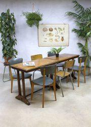 Franse vintage café/ bistro tafels eetkamertafel industrieel, French café tables bistro table