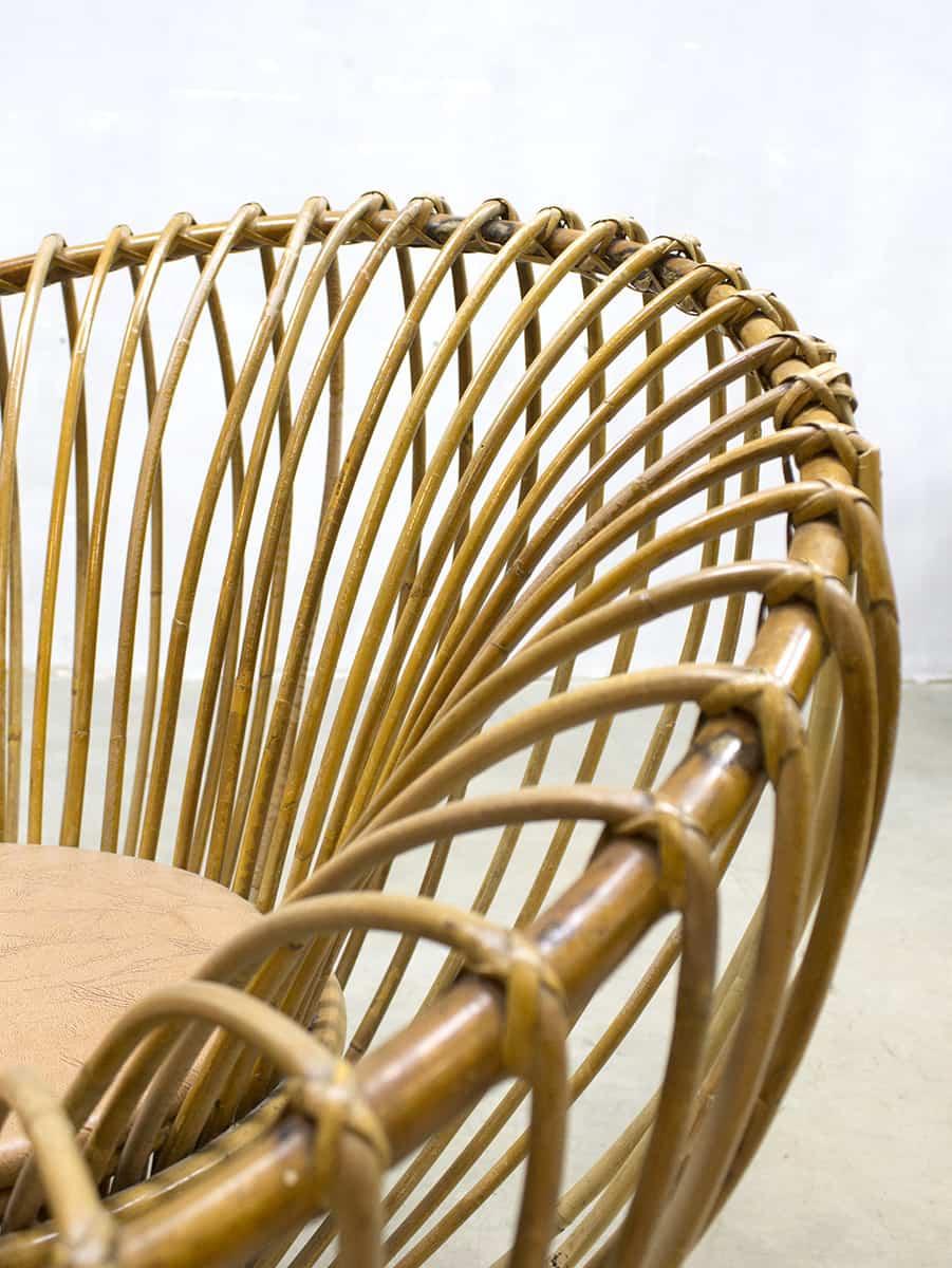 Leuke Rotan Fauteuil.Vintage Rattan Lounge Chairs Franco Albini Style Rotan Fauteuils