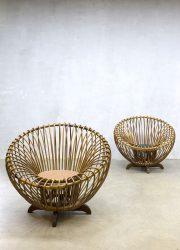 vintage rattan lounge chairs rotan fauteuils Albini style Rohe Noordwolde