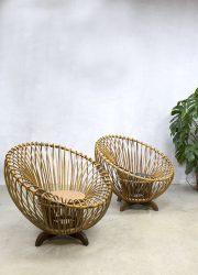 Rohe Noordwolde lounge fauteuil Albini style bamboo bamboe rattan wicker