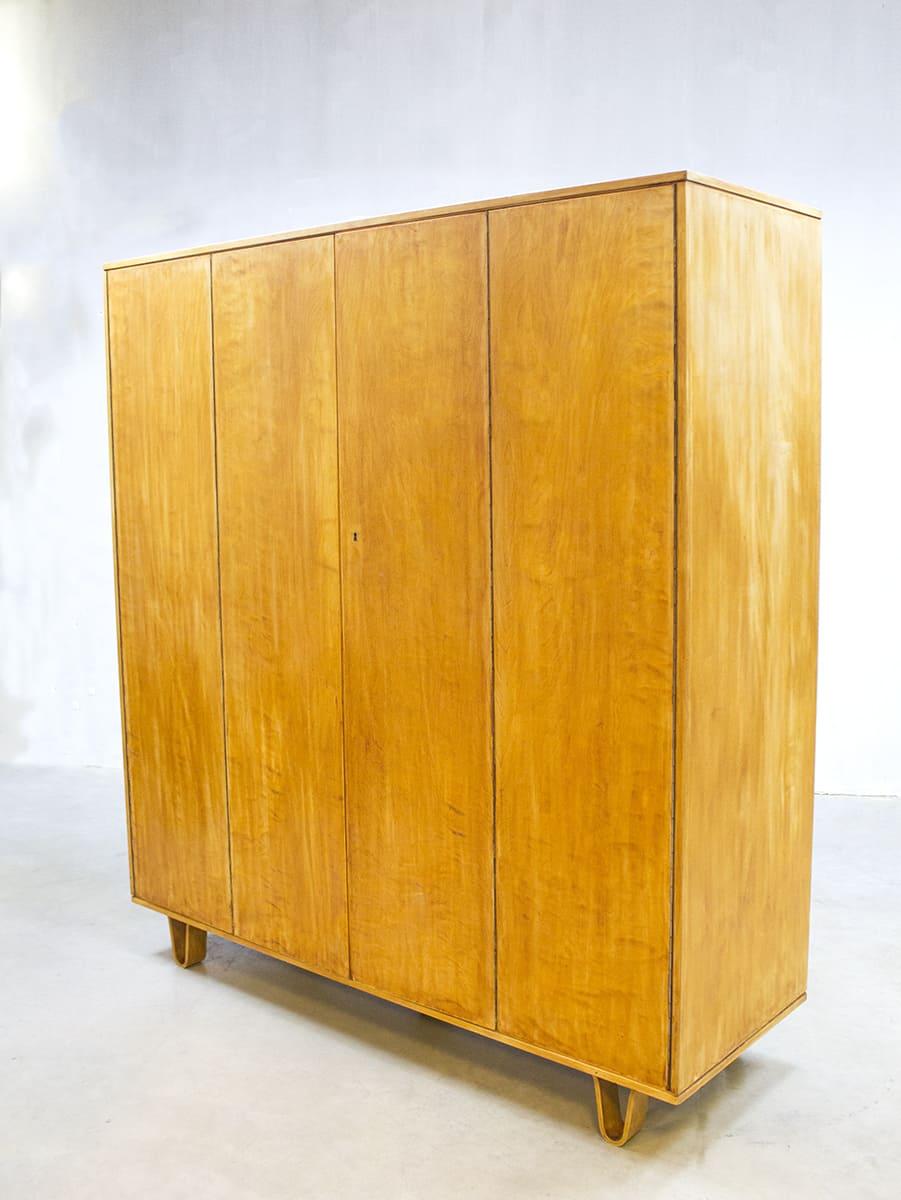 Vintage Pastoe Kast Cobex Serie Birch Wardrobe Cees Braakman