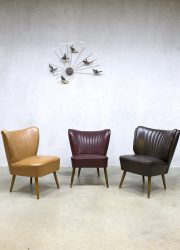 vintage dutch design cocktail chairs clubfauteuils midcentury modern