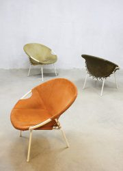 Vintage stoel suede, vintage balloon chair chairs Lusch & Co