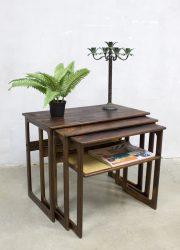 midcentury modern design Illim Wikkelso CFC bijzettafels nesting tables mimiset Johannes Andersen