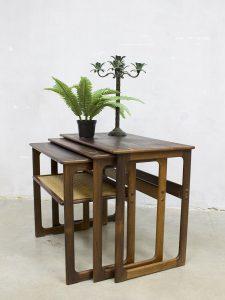 Vintage design nesting tables Johannes Andersen mimiset bijzettafels CFC