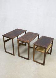 Illum Wikkelso vintage design Johannes Andersen mimiset nesting tables