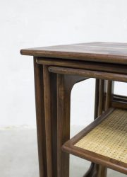 mid century Danish minimalism Scandinavian design Johannes Andersen Illum Wikkelso CFC mimiset nesting tables bijzettafels