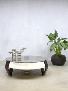 Midcentury vintage design coffee table salontafel Space Age