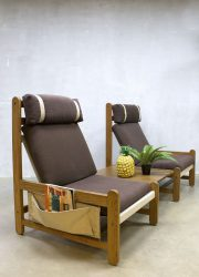 Deense vintage lounge fauteuils strandstoelen beach chair Eilersen