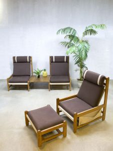Vintage danish lounge set lounge chair beach chair fauteuil Niels Eilersen
