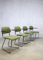 Gispen vergaderstoelen stoelen vintage office chairs