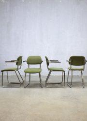 eetkamerstoelen vergaderstoelen vintage stoel Gispen 212