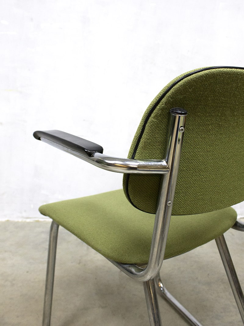 Eetkamerstoelen Gispen De Wit.Vintage Design Office Chairs Buisframe Stoelen Gispen 212 Stijl