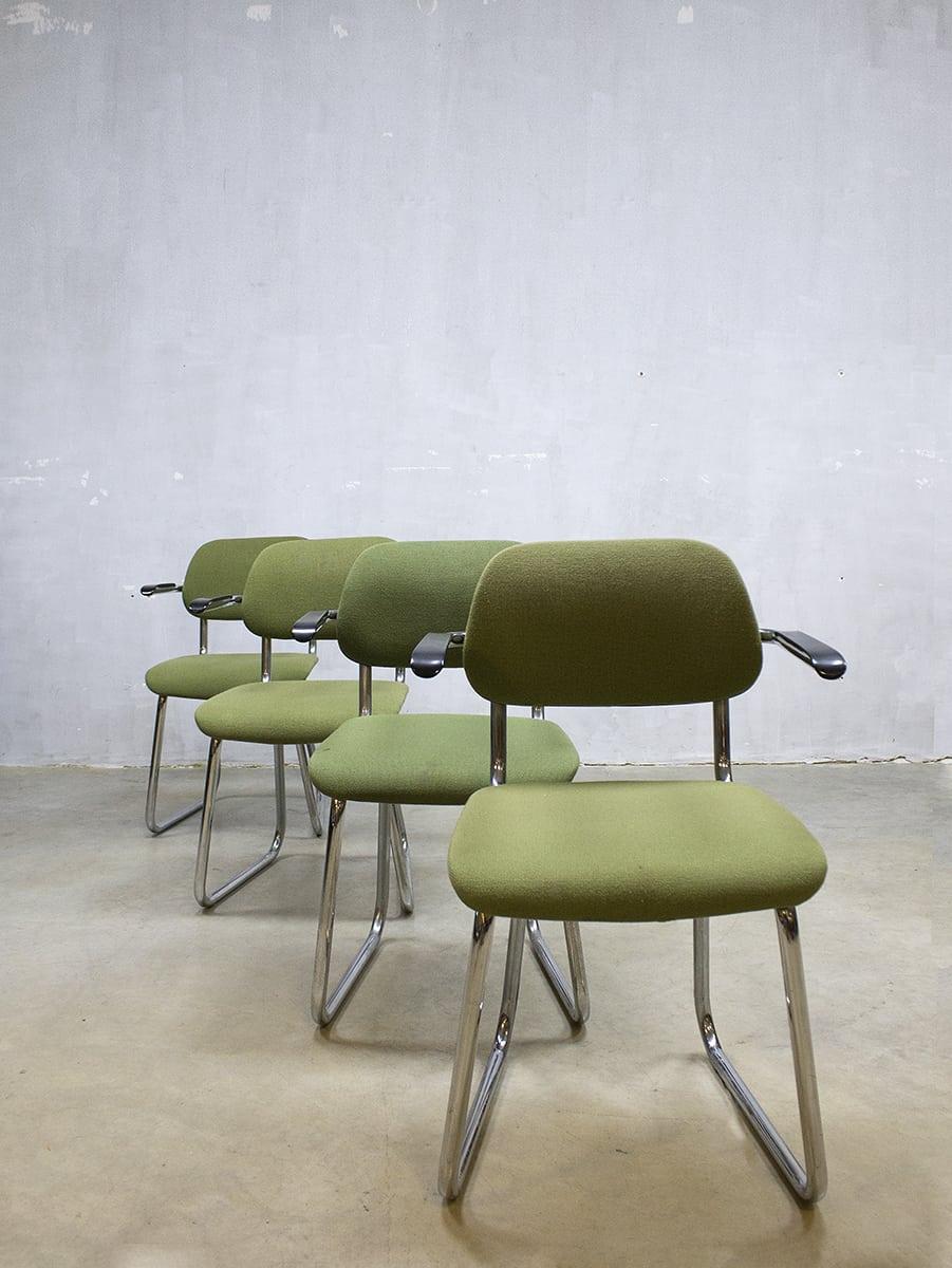 Buisframe Stoelen Vintage.Vintage Design Office Chairs Buisframe Stoelen Gispen 212 Stijl
