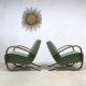 Fantastic pair Art deco Jindrich Halabala bentwood armchairs H-269