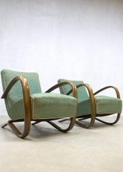Art deco arm chairs lounge chair Jindrich Halabala