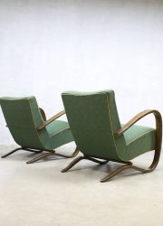 vintage design lounge chairs fauteuils art deco Halabala