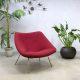 Vintage Artifort chair Oyster F157 lounge vintage fauteuil Pierre Paulin