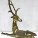 Vintage brass deer sculpture dubai style koperen hert