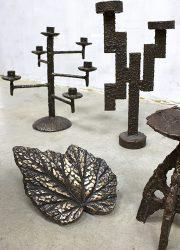 kandelaar candleholder vintage design art brutalist