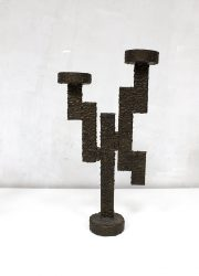 brutalism brutalist art candle holder kandelaar vintage design
