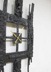 brutalist vintage clock mid century modern klok
