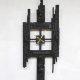 Vintage design brutalist clock Scandinavian modern klok