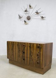 Vintage retro cabinet chest of drawers rosewood ladenkast zebrano