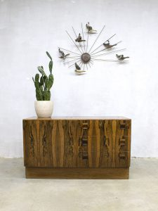Vintage cabinet chest of drawers rosewood ladekast zebrano