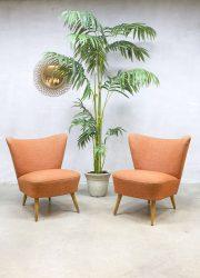Vintage fifties cocktail chairs mid century fauteuils stoelen