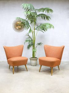 Vintage fifties cocktail chairs mid century fauteuils stoelen