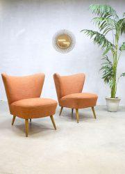 mid century cocktail chairs vintage design fauteuils stoel