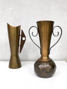 Vintage Dahlmann copper vase German Danish design vaas