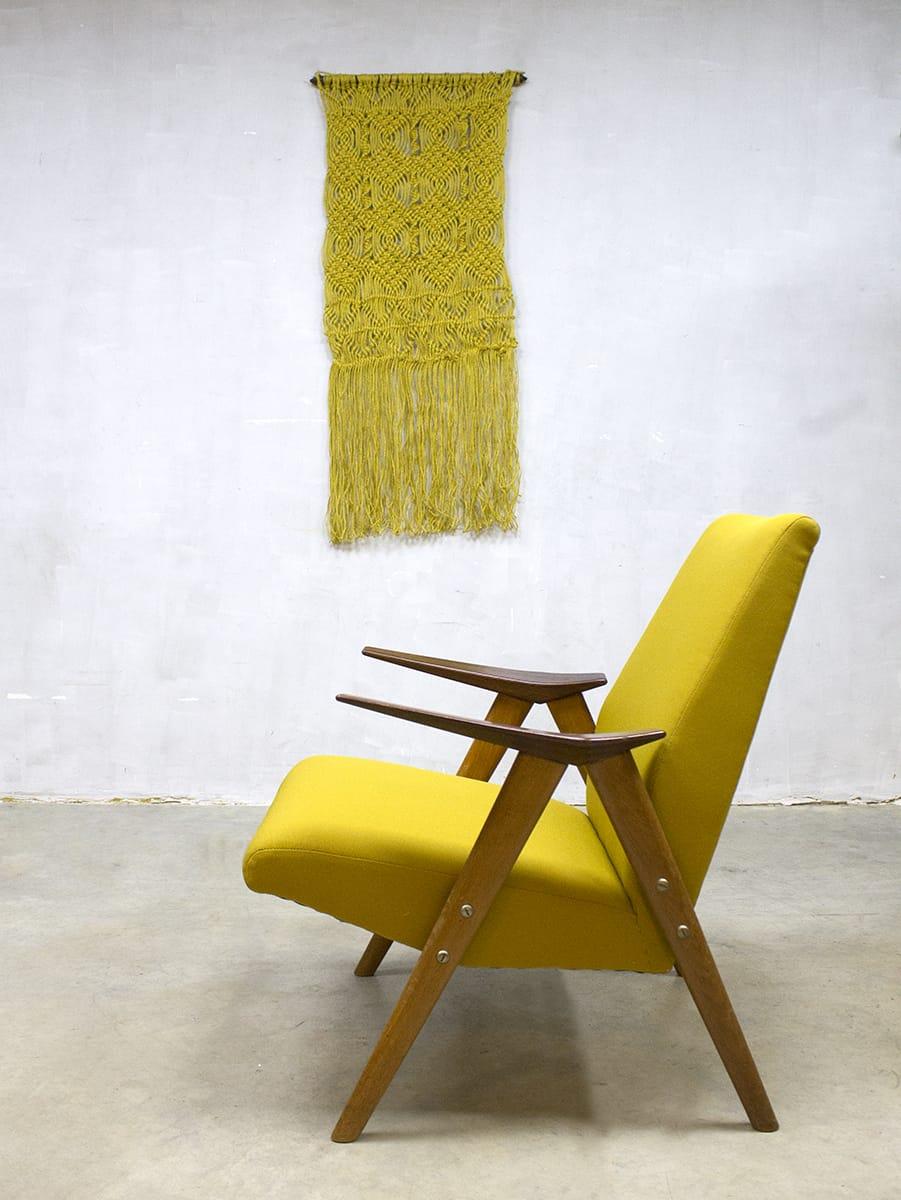 Verwonderend Vintage Danish armchair lounge chair, vintage lounge fauteuil Deens IL-95